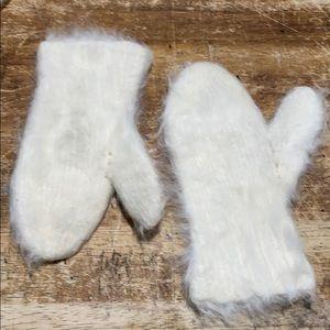 Vintage Virgin Rabbit Fur Childs mittens